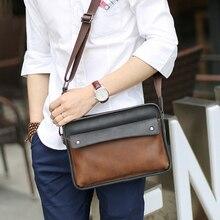 2016 England Fashion Designer Crossbody Bag for Men PU Leather Handbags Man Casual Coffee Business Shoulder Bag Messenger Bags