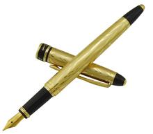 Picasso 901 Fountain Pen Amorous Feeling of Paris 18KGP Fine Nib Noble Golden Office Business School Writing Gift