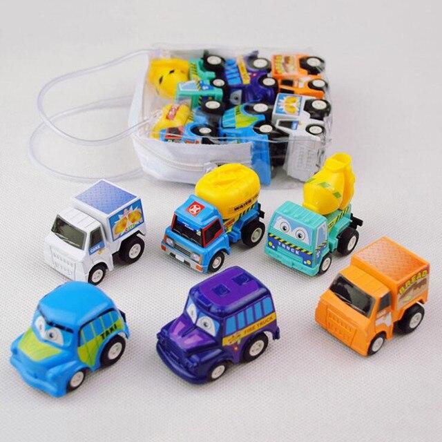 Pcs Multi estilo 6 Crianças brinquedo Chama Monstro Puxar para trás do carro de Trás do carro de engenharia de simulação das Crianças conjunto veículo