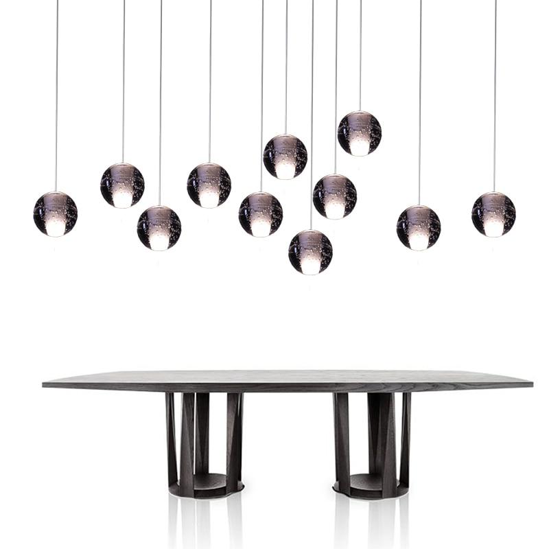 ФОТО Free Shipping Modern LED Pendant Lamp Ball Pendant Light Led Diameter 10 CM Crystal Balls Crystal Ball  Loft Stairs Light Lamp