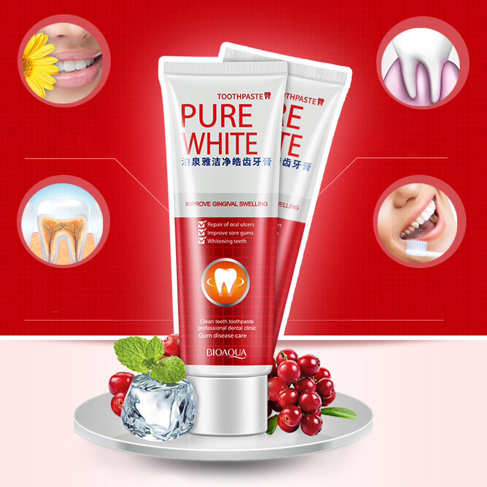Improve Gingival Swelling Clear Protect Gums Toothpaste Whiten Teeth Fresh Cranberry Mint Toothpaste Drop Shipping image