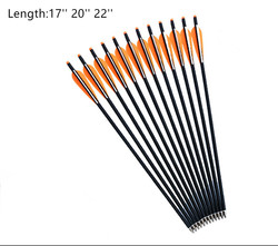 6pcs New 17 inch 20 inch 22 inch Crossbow Bolts Carbon Arrow With Red Vans and Removable Arrowhead/Tip For Hunting