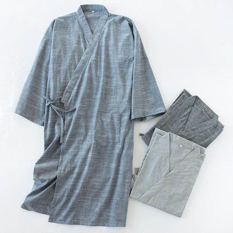 Cotton Material  Male Kimono Men Robe Kimono Robe Men 9670