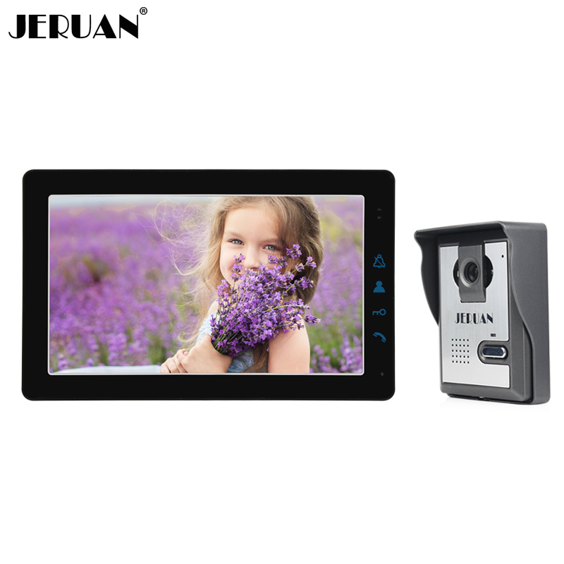 JERUAN Home Wired 9 Inch LCD Video Intercom Door phone Doorbell Unlock Intercom System Kit HD IR Camera In Stock FREE SHIPPING jeruan home wired 9 inch lcd video intercom door phone doorbell unlock intercom system kit hd ir camera in stock free shipping
