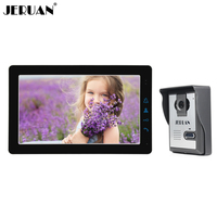 JERUAN Home Wired 9 Inch LCD Video Intercom Door phone Doorbell Unlock Intercom System Kit HD IR Camera In Stock FREE SHIPPING