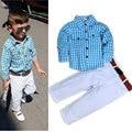 Hot Sale Boys Boutique Formal Clothes Set Plaid Kids Outfits Boy Fashion Clothes Sets Toddler Boys Clothing Children Outfits