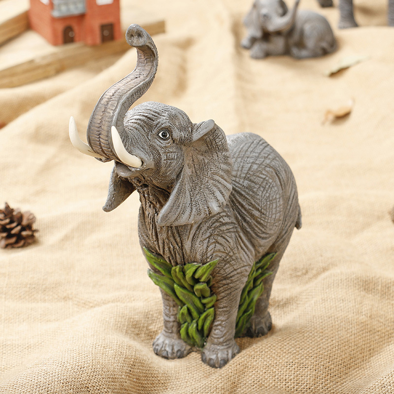 Xmas, Garden of Arts Stylish Rustic Painted 7 Elegant Elephant Trunk Statue Wealth Lucky Figurine Home Decor Gift