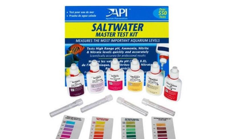API Reef Test Kit Fresh Water Test Kit for Ca calcium Cu I2 KH Mg NH4 Ammonia NO2 Nitrite NO3 Nitrate PH PO4 Sr
