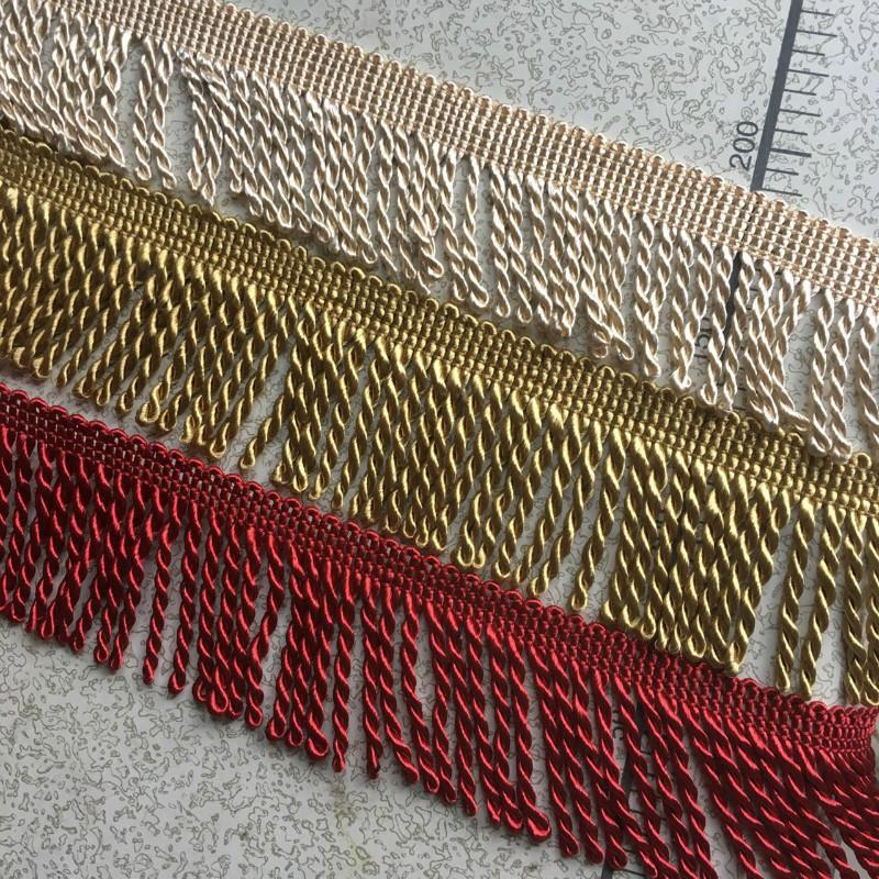 1 Meter Fringed Tassel Ribbon Fabrics For Sofa Curtains Lace Decoration 5cm Width Dentelle Tissu Africain Spitze Sewing Supplies