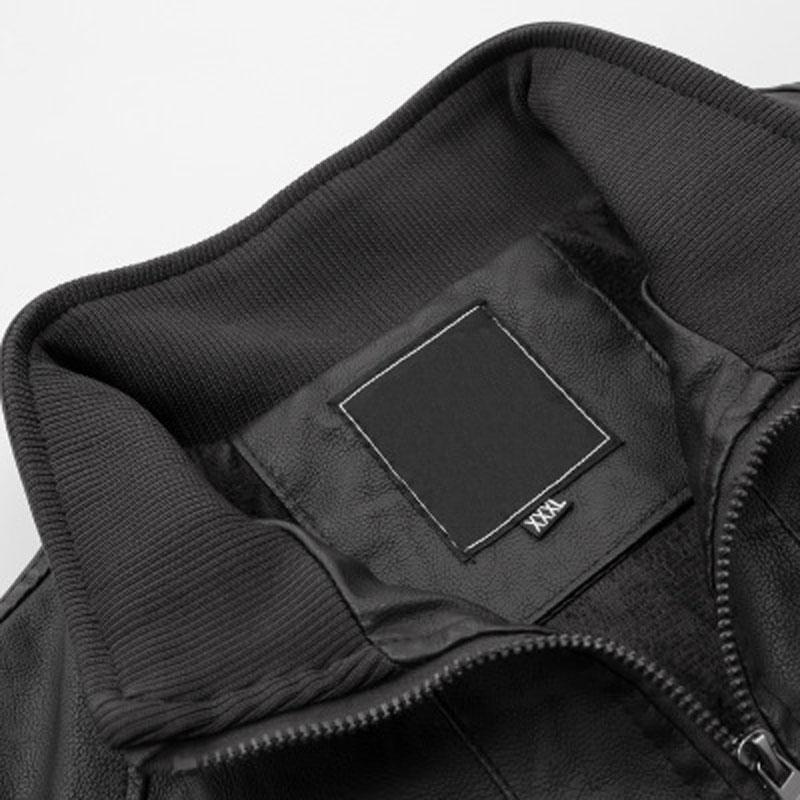 Hee Lâche Outwear Mwj2603 Grand Pu Veste Col Décontracté Grande Taille Montant Noir Black 6xl Pour Vestes Hiver Hommes Flocage 2019 grgqO