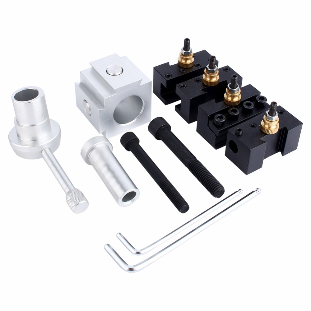 Retail Mini CNC Lathe Tool Holder Quick Change Tool Post Cutter Holder Screw Kit Set Boring