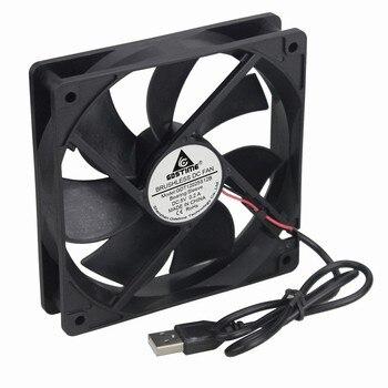 100PCS Gdstime Mute Silent DC 5V 120x120x25mm 1500RPM USB Computer Case Cooling Cooler Fan 120mm x 25mm Wholesale