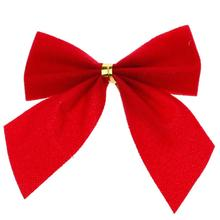 Christmas Ornaments Red Bowknot 12 Pieces/Pack Width 5cm