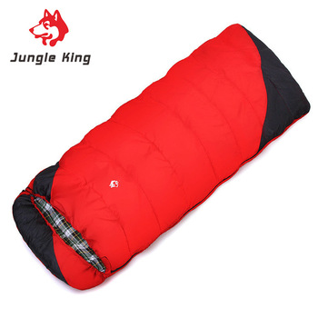 Jungle King  new camping winter outdoor hiking  camping sleeping bag cold envelope widening and thickening --18 wholesale 2.4kg 1