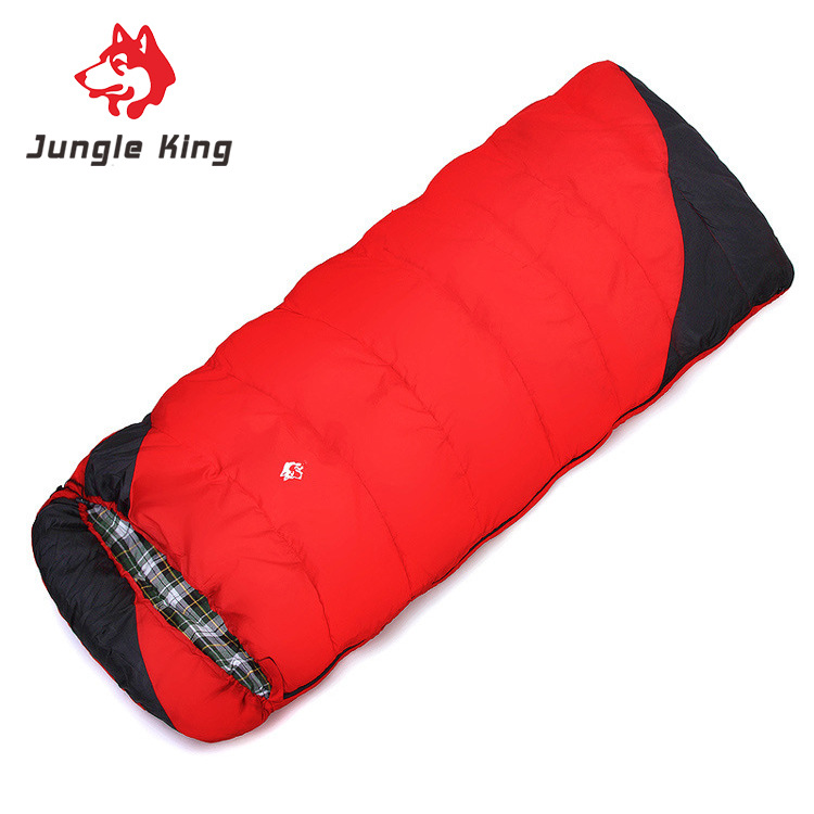 Jungle King  new camping winter outdoor hiking  camping sleeping bag cold envelope widening and thickening --18 wholesale 2.4kg