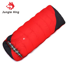 Jungle King  new camping winter outdoor hiking sleeping bag cold envelope widening and thickening --18 wholesale 2.4kg