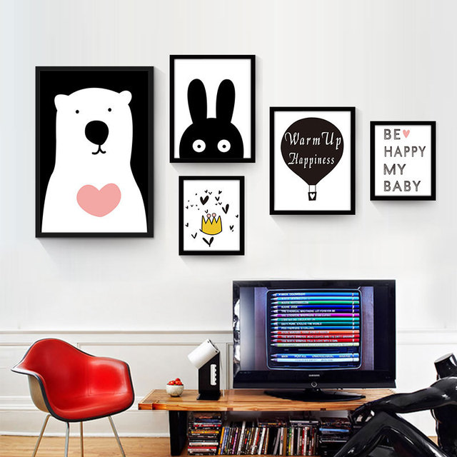 Creative Kawaii Home Decor Kids Room Paintings Artwork Posters And Prints  Picture Childrenu0027s Posters On The Wall Posters