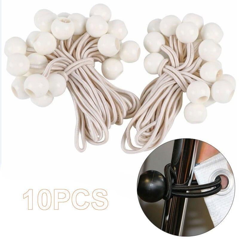 Белая эластичная фиксированная веревка Спортивная фиксирующая лента практичная эластичная связывающая лента снаряжение для путешествий палатка крепление на шнурке 10 шт. прочная