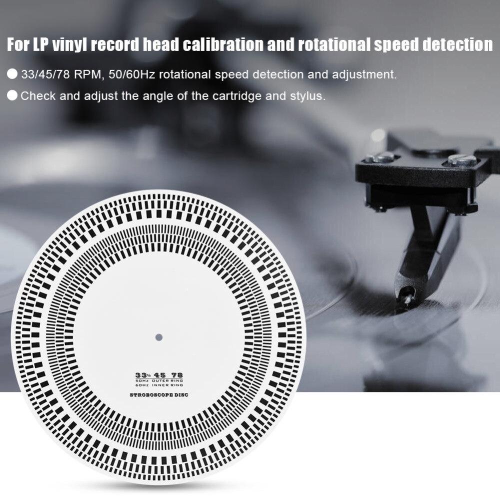 Lp Vinyl Rekord Plattenspieler Phono Drehzahlmesser Kalibrierung Strobe Disc Stroboskop Matte 33 45 78 Rpm Tragbares Audio & Video