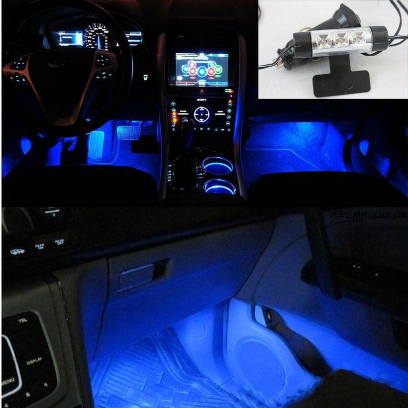 Auto onderdelen 4 in1 Zolen Omgevingslicht Auto LED sfeerverlichting ...
