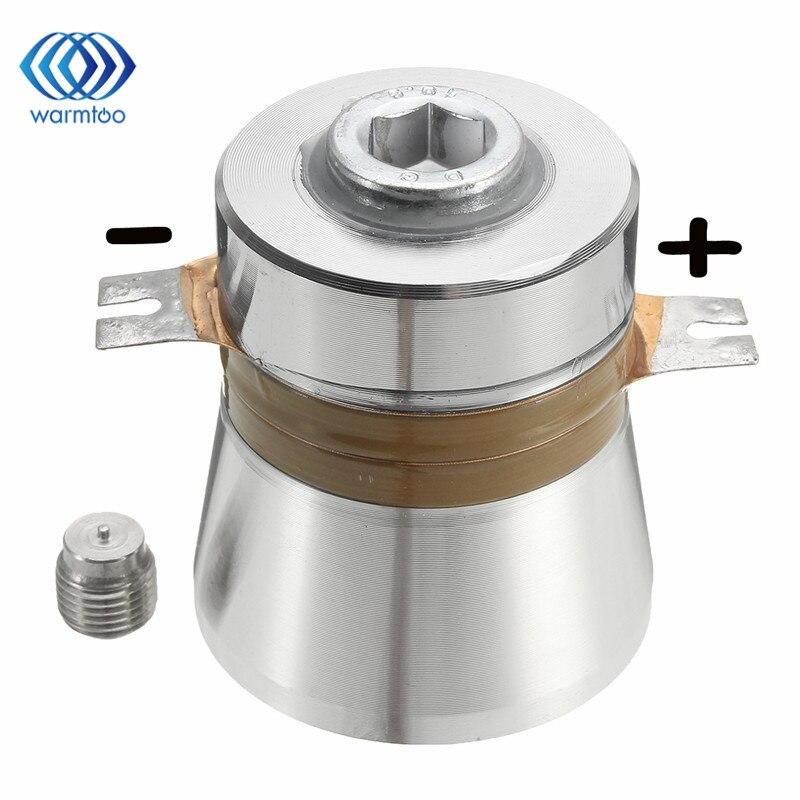 Componentes acústicos ultrassônicos do elevado desempenho do líquido de limpeza do transdutor piezoelétrico da eficiência da conversão de 1 pces 60 w 40 khz alta