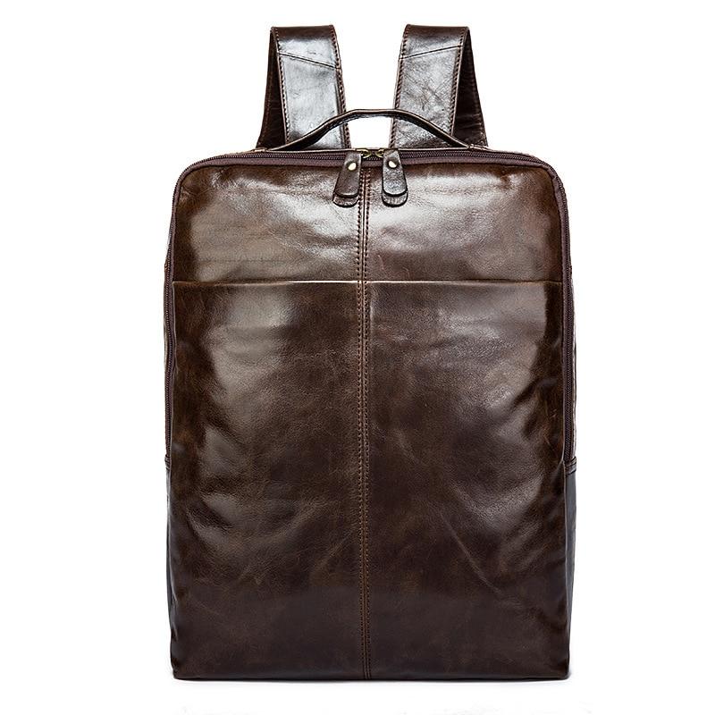 Men Backpack Genuine Leather Bag Men School Bags Laptop Backpack Travel Bags Famous Brand 2017 Leather Backpack Men 14 15 15 6 inch flax linen laptop notebook backpack bags case school backpack for travel shopping climbing men women