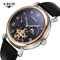 Mens Watches Top Brand Luxury LIGE 2016 Men Watch Sport Tourbillon Automatic Mechanical Leather Wristwatch Man relogio masculino