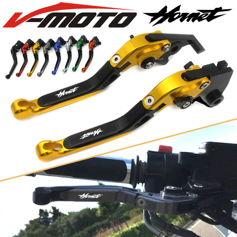 With Logo CNC Golden Motorcycle Brake Clutch Levers For Honda CB599 / CB600 HORNET 1998-2006 1999 2000 2001 2002 2003 2004 2005