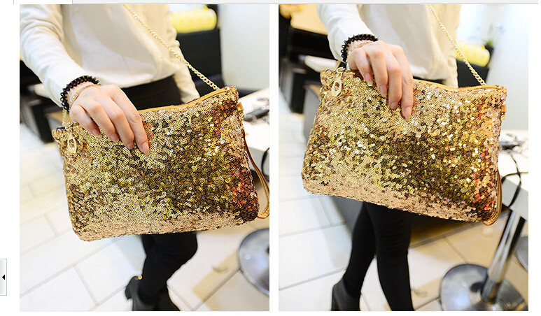 3pcs wholesales Most popular by American European Sequins Style Design Women Messenger B ...