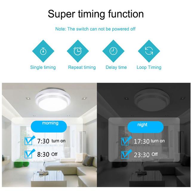 Smart Home WiFi RF Light Switch Panel Wall