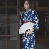Japanese Kimono Traditional Obi Yukata Women Costume Geisha Cosplay Kimono Dress Oriental Traditional Japanese Kimonos KK2767