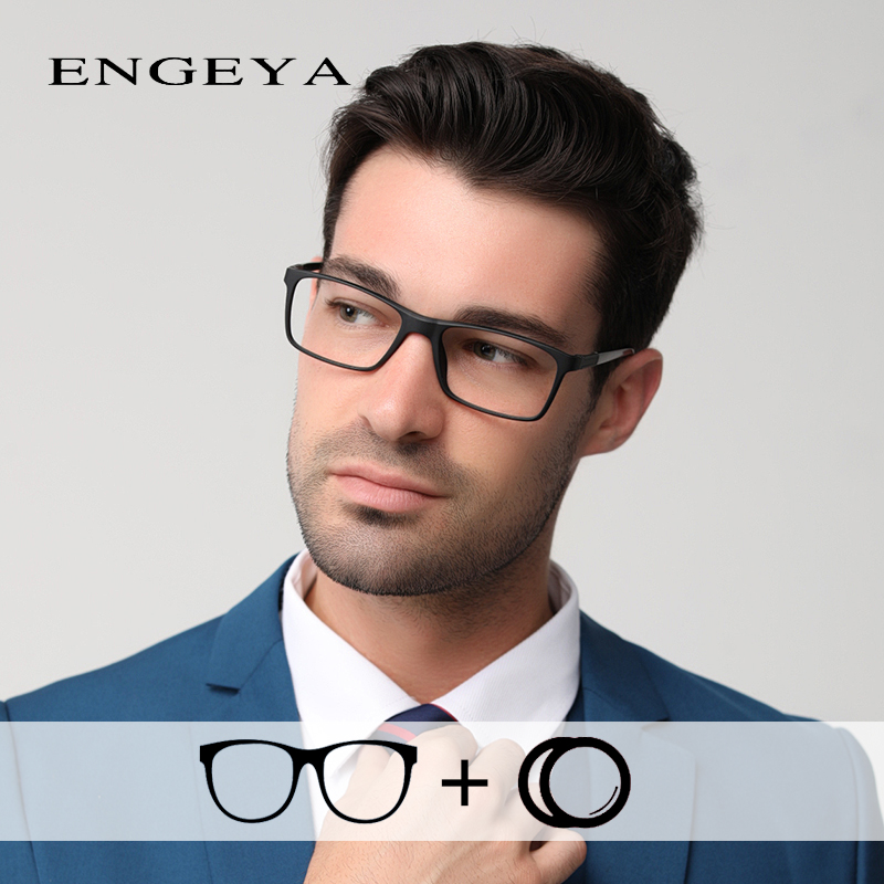 Men TR90 Brand Spectacles Frame Clear Fashion Myopia Optical Prescription Eye Glasses Bright Color High Quality #2009(China)