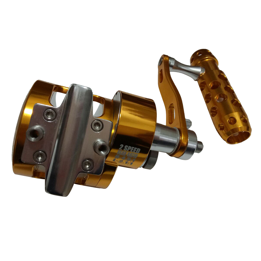 Full Metal Jigging Reel Double Speed Trolling Fishing Reel 30kgs Power Drag Deep Sea Saltwater Boat Reel SYD90 4.5:1 2.1:1 left