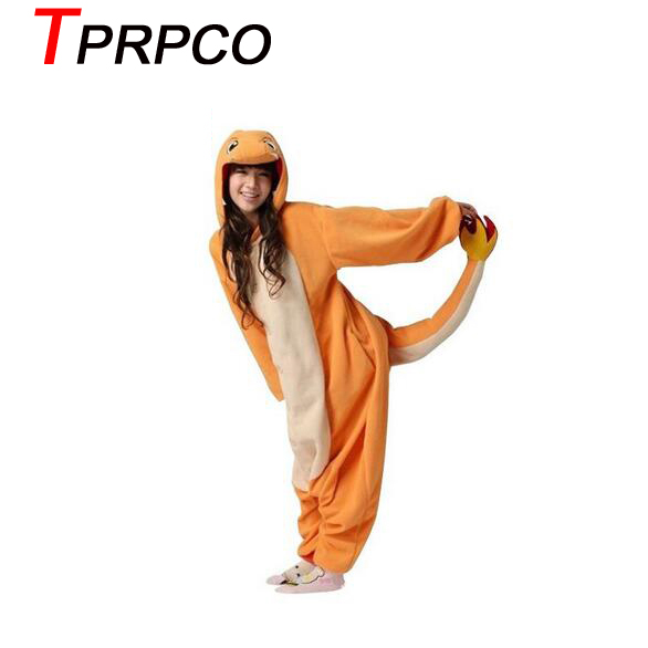 TPRPCO Pop anime pokemon Charizard jumpsuit Pajamas pyjamas costume charmander fire dragon Adult Unisex Onesie Party NL183