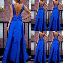 Women Formal Bowknot Long Dress Prom Evening Party Summer Br