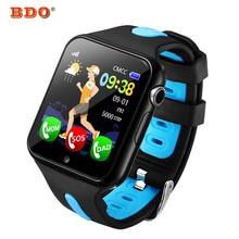 Relógio inteligente Crianças V5K Banda Kid GPS Track Esporte Criança Relógios Smartwatch Suporte Câmera de Segurança Do Cartão Do SIM Do Telefone À Prova D' Água Do Bebê