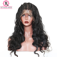 Rosa Queen Full Lace Human Hair Wigs For Black Women Brazilian Body Wave Remy Hair 130