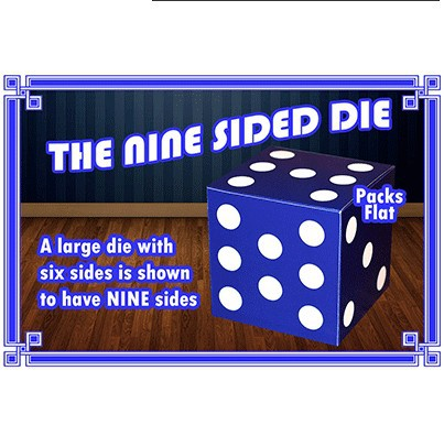 The Nine Sided Dice Magic Tricks Stage Close Up Props Gimmick Illusion Comedy Large Die Have Nine Sides Magie