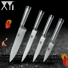 """XYj Straigt Handle Kitchen Knives 3.5″ 5 """" 8″ 8″ High Grade Ultra-thin Blade Stainless Steel Knife 4 Pcs Set Best Cooking Tools"""