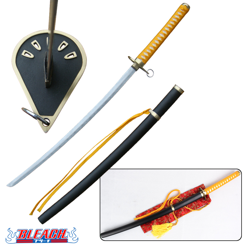 сузумуши - 41 Inch Free Shipping Captain Kaname Tousen Suzumushi Katana Cosplay Prop Replica Bleach Anime Sword Real Steel Blade Decorative
