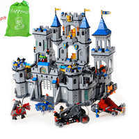 Happywill Building Block Set Enlighten 1023 Enlighten Medieval Lion Castle Knight Carriage Model Toys For Children