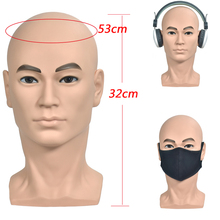 Male Mannequin Head Model Manikin Wig Scarf Glasses Hat Cap Display Stand