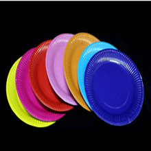 7 Inch Candy colored Paper Plates for Valentine Birthday Wedding kindergarten Party Tableware Party Supplies prato & Buy colored paper plates and get free shipping on AliExpress.com