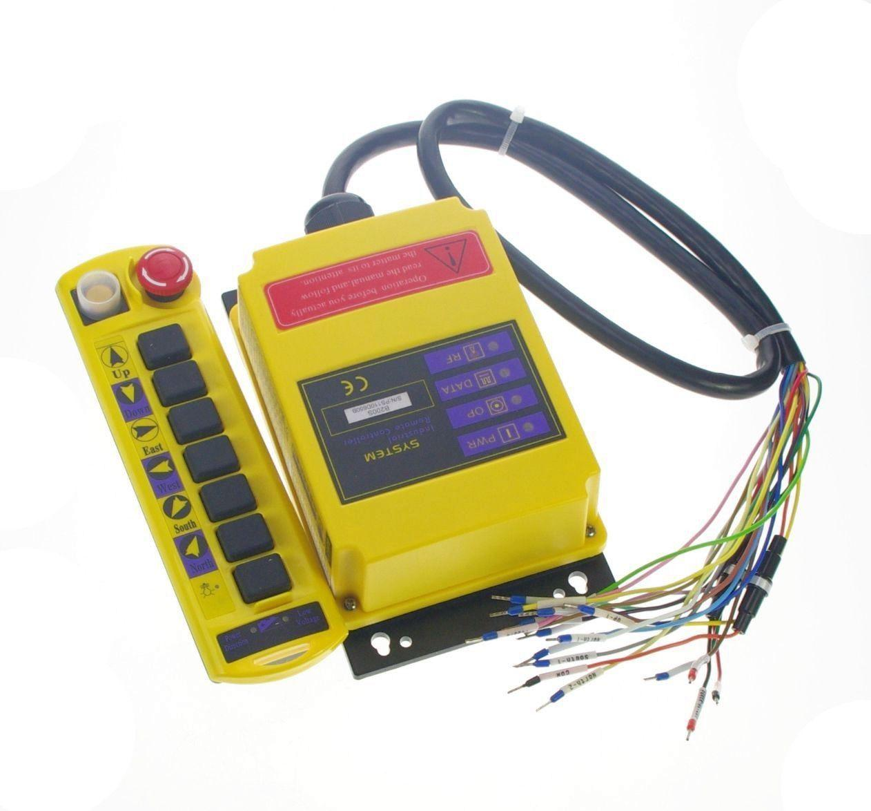 1 Speed 1 Transmitter Control Hoist Crane Radio Remote Control System Controller CE 12V 24V AC/DC 110V 220V 380V,415VAC nice uting ce fcc industrial wireless radio double speed f21 4d remote control 1 transmitter 1 receiver for crane