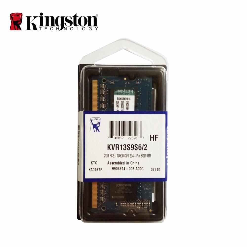 Kingston 1333MHz 2GB 1Rx16 256M x 64 Bit PC3 10600 CL9 204 Pin memoria ddr3 for