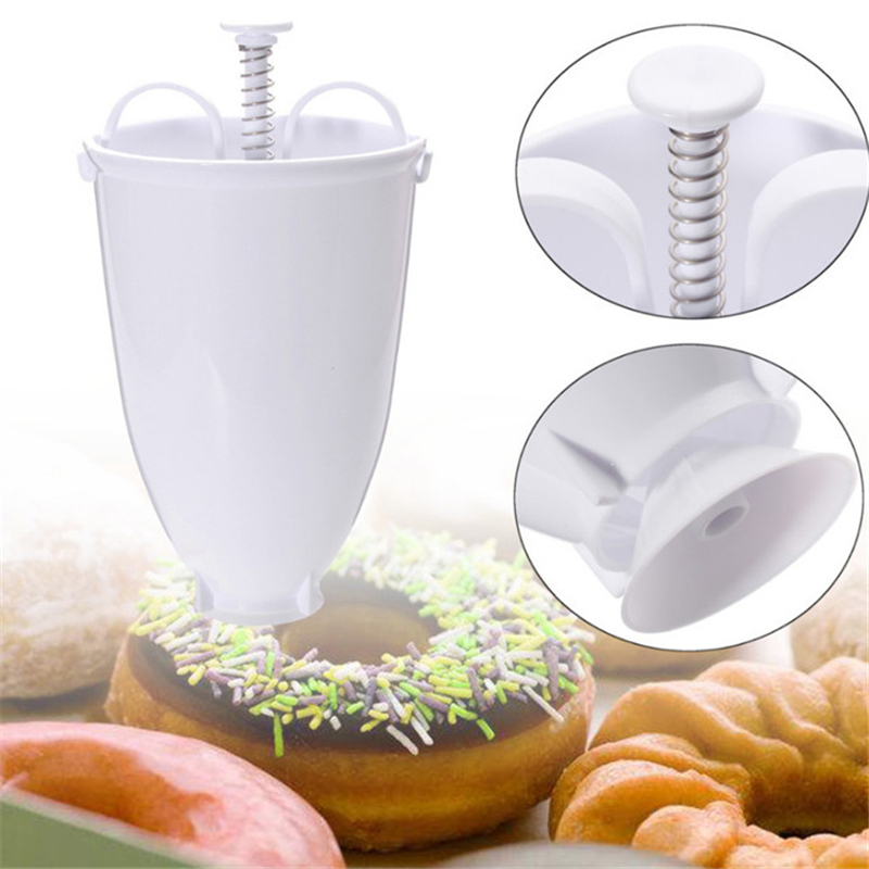 TTLIFE Donut Making Tool Maker Dispenser Donut Making Artifact Creative Dessert Mold DIY Confectionery Pastry Baking 2019 New in Pastry Cutters from Home Garden
