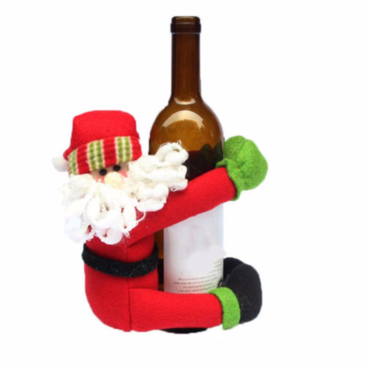 Wine bottle ornaments - Snowman Santa Claus Christmas Wine Bottle Holder 20x23cm Toys Ornaments Figurines Home Decorations Crafts Xmas Gifts