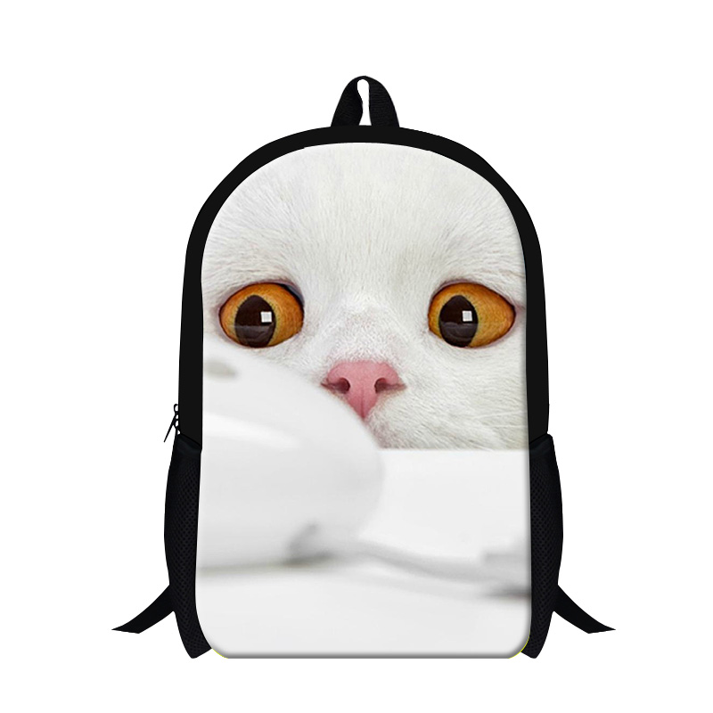 Dispalang 16-inch Cat Face Backpack Animal Mouse Print School Bag For Teenage Boys Fashion Mens Casual Daypack Kids Book Bags
