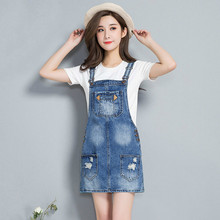 Women Casual Spaghetti Strap Denim Dress Summer Jeans 2019 New Ripped Holes Dress Sleeveless Ladies Mini Dresses Vestidos