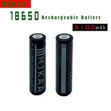 Li-ion para Led 2 Pcs 18650 Bateria Recarregável 3100 Mah Não Aa e aaa 3.7 V Baterias Lanterna DA
